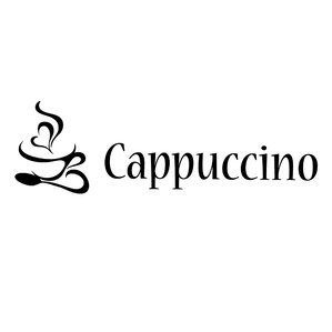 Cappuccino Style Vinyl Wall Decal