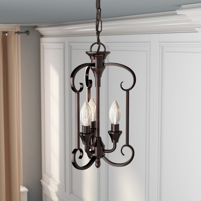 Charlton Home Warner Robins 3 Light Foyer Pendant