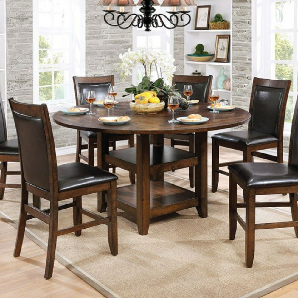 Bon Declan Wooden Round Counter Height Dining Table