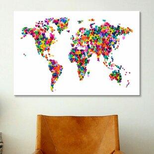 World Map Push Pin   Wayfair