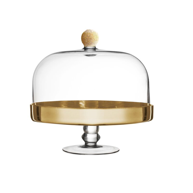 Medley Pedestal Plate Cake Stand with Dome  sc 1 st  Wayfair & Fitz and Floyd Medley Pedestal Plate Cake Stand with Dome | Wayfair