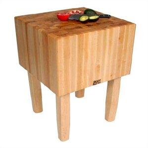 Elegant BoosBlock Prep Table With Butcher Block Top