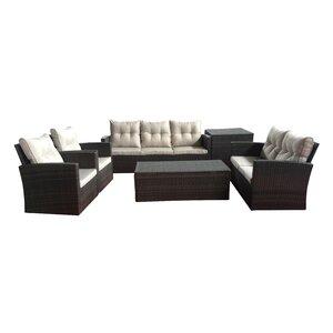 Carlene 6 Piece Sofa Seating Group with Cushion