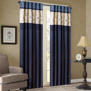 Brierwood Nature/Floral Blackout Rod Pocket Single Curtain Panel