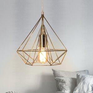 Modlin Diamond Cage 1-Light Geometric Pendant & Geometric Cage Pendant Light | Wayfair azcodes.com