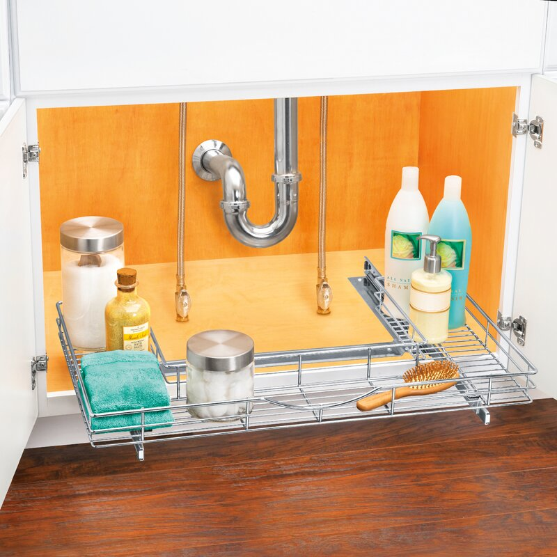 Lynk Roll Out Cabinet Organizer: Lynk Professional® U-Shaped Roll Out Under Sink Drawer
