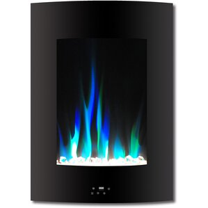 Betria Crystal Display Vertical Wall Mount Electric Fireplace by Ebern Designs
