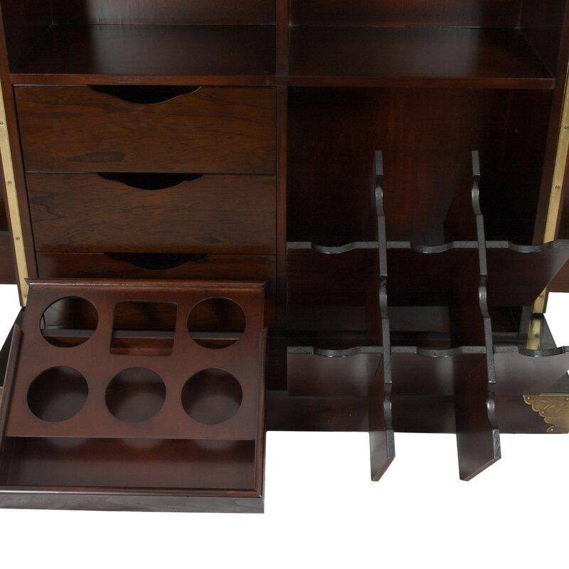 Korean Bar Cabinet with Wine Storage