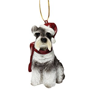 Mini Schnauzer Holiday Dog Ornament