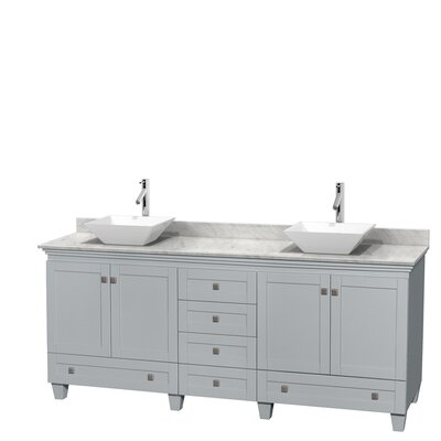 Mercury Row Cartagena Double Bathroom Vanity Set With White - Bathroom vanities delray beach fl