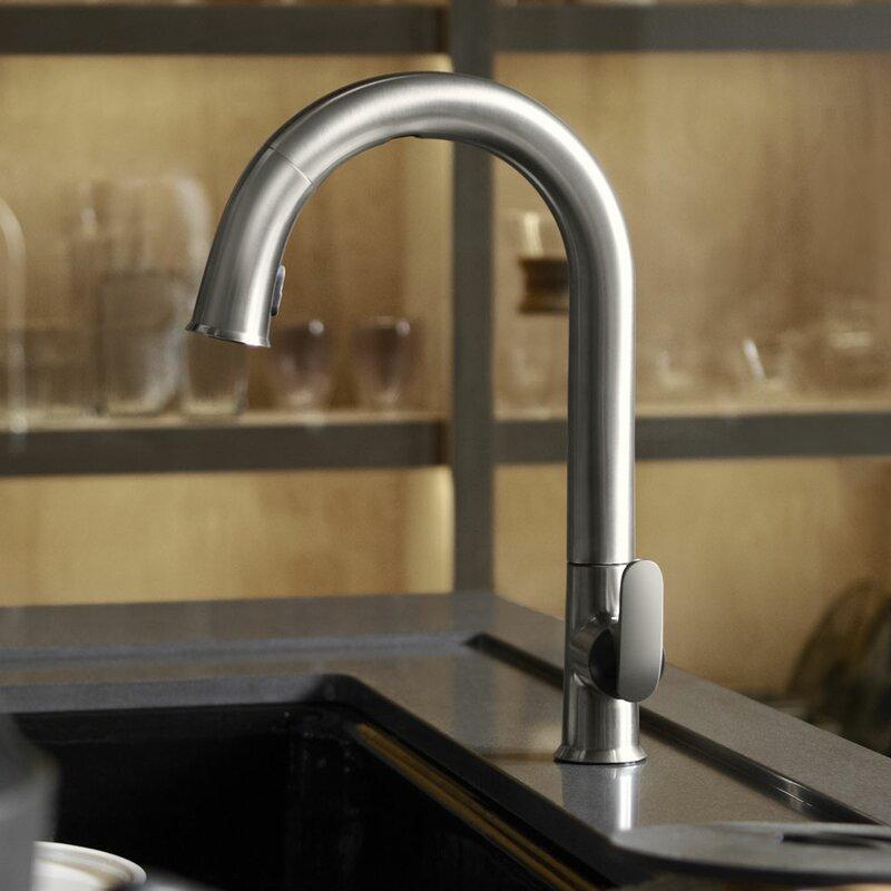 K-72218-2BZ,CP,VS Kohler Sensate Touchless Kitchen Faucet with 15-1 ...