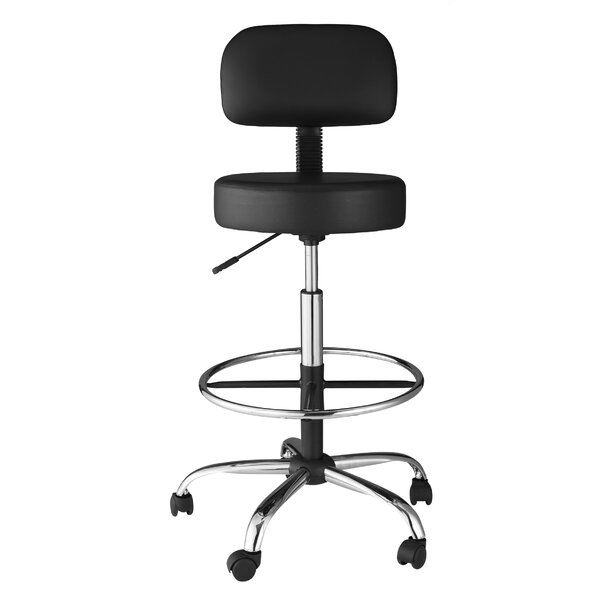Delightful Adjustable Stool With Back Part - 3: OneSpace Height Adjustable Medical Stool With Back Cushion U0026 Reviews |  Wayfair