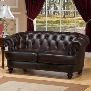 Roosevelt Chesterfield Loveseat by Amax