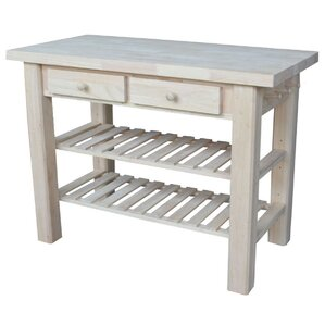 Rathbone Kitchen Island with Butcher B..