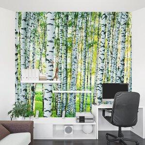 Good Spring Birch Tree Forest 8u0027 X 96 Amazing Design