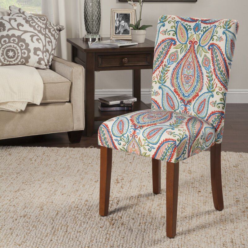 Powers Paisley Parsons Chair & Bungalow Rose Powers Paisley Parsons Chair u0026 Reviews | Wayfair
