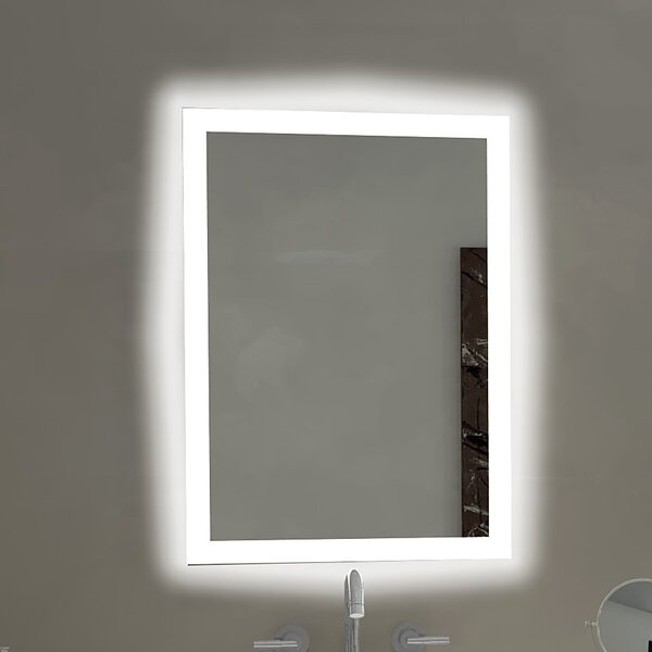 Ordinaire Paris Mirror Rectangle Backlit Bathroom/Vanity Wall Mirror   Wayfair