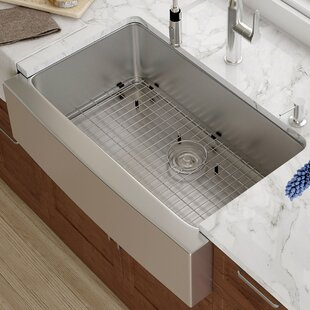 Drainboard Kitchen Sinks Drainboard kitchen sink wayfair 33 x 21 farmhouse kitchen sink with drain assembly workwithnaturefo