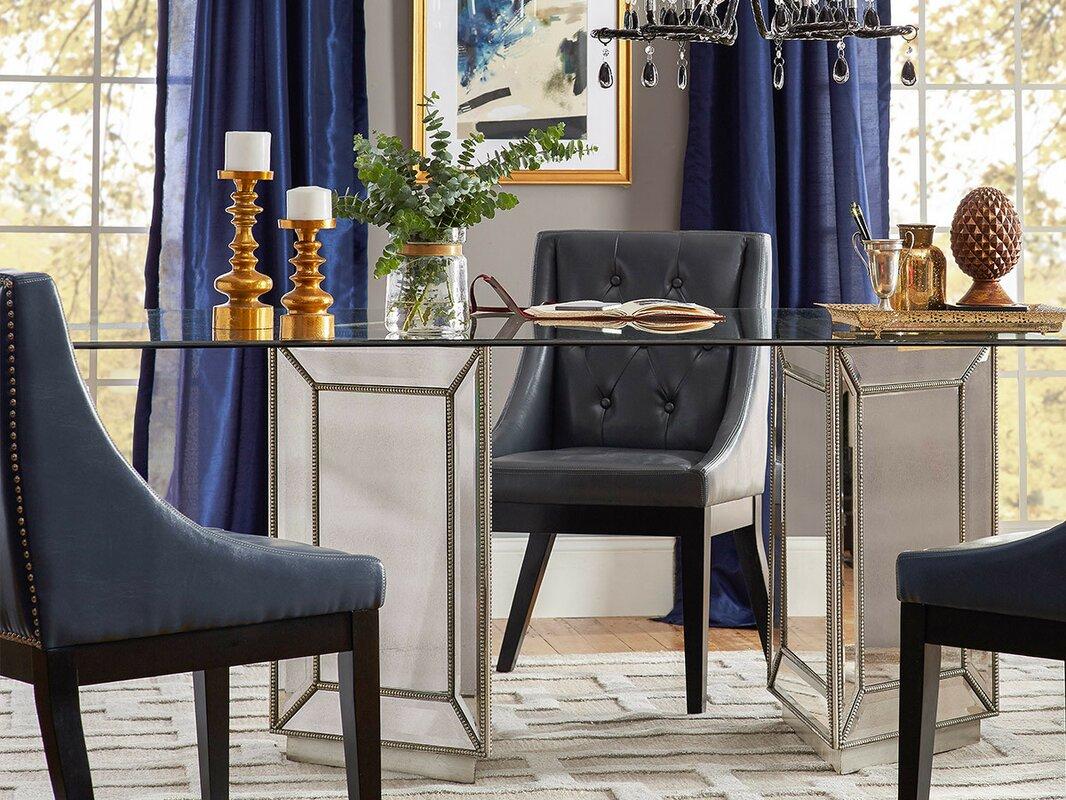 Hattie Mirrored Dining Table & Reviews | Joss & Main