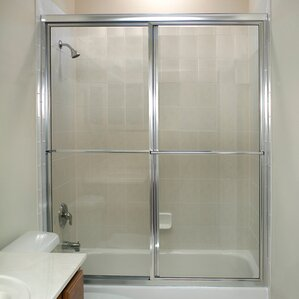 Framed Sliding Shower Doors shower & bathtub doors you'll love | wayfair