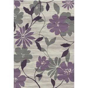 Bradshaw Hand-Tufted Plum Area Rug