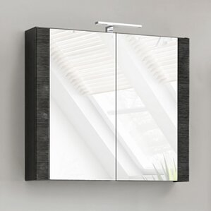 Belfry Bathroom Barley 80cm X 69cm Surface Mount Mirror Cabinet