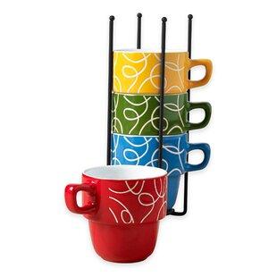 Alvy Stacking Coffee Mug With Storage (Set Of 5)