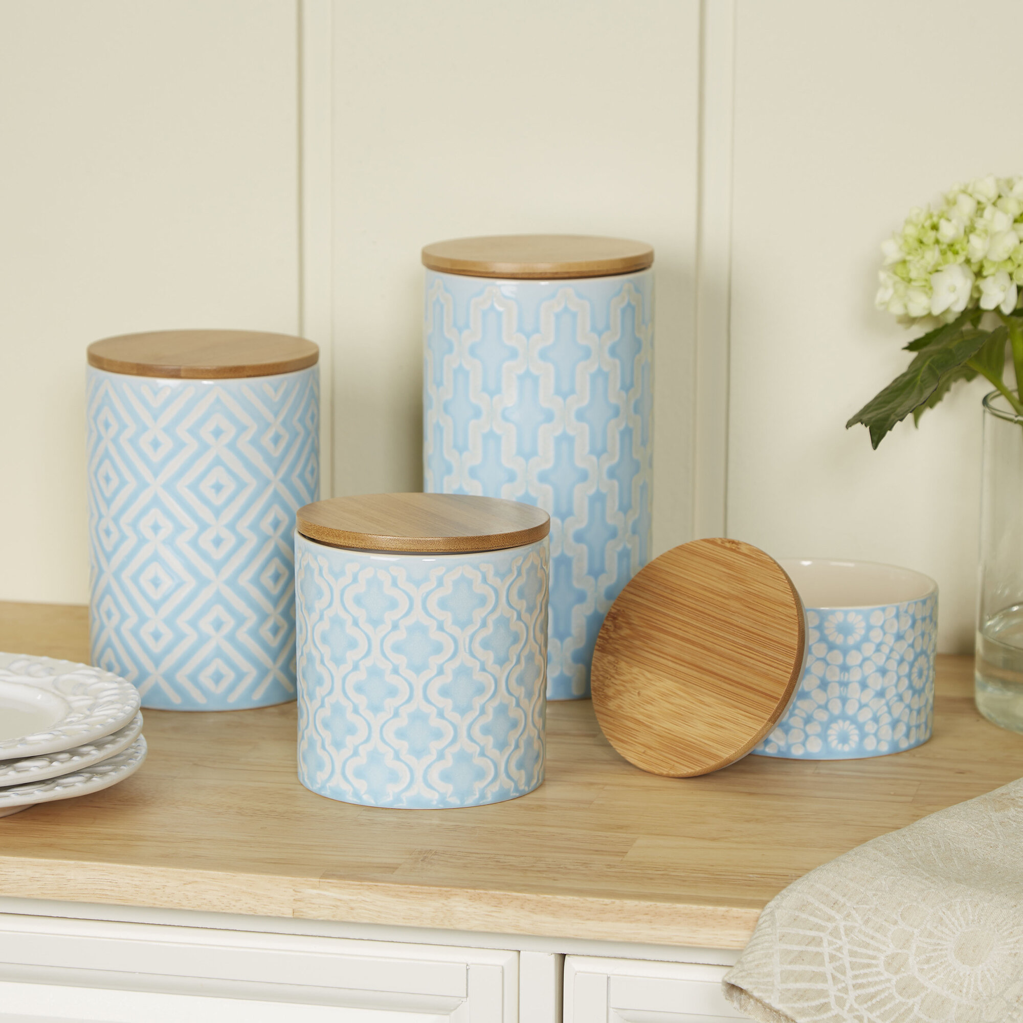 Birch Lane™ 4-Piece Adelaide Canister Set & Reviews | Birch Lane