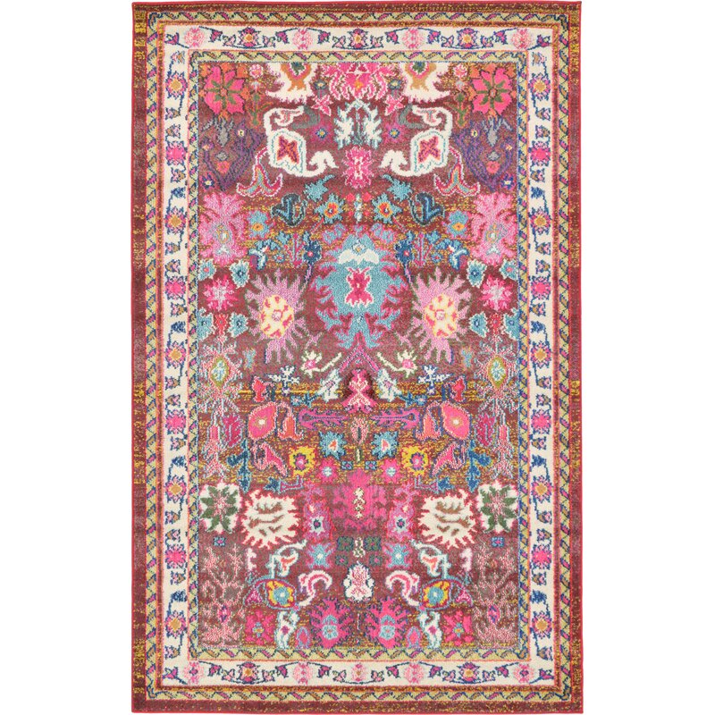 Bungalow Rose Iris Pink Area Rug Amp Reviews Wayfair