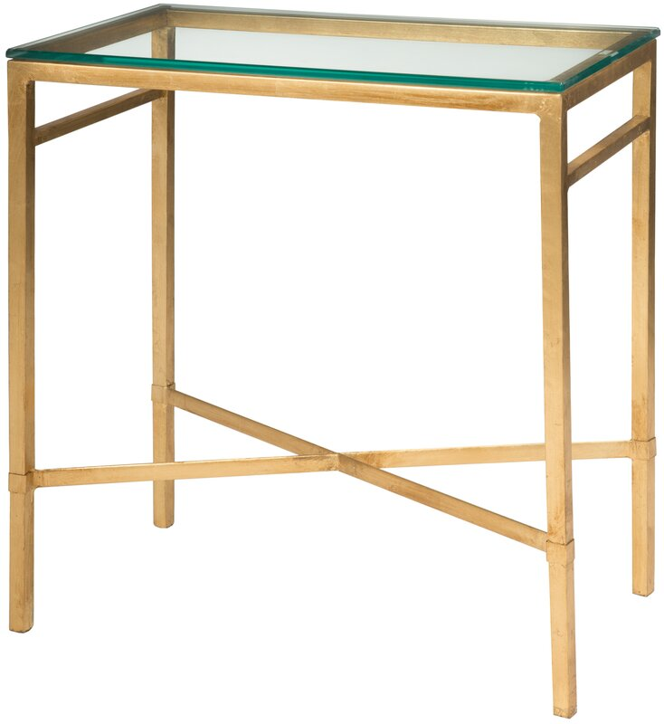 Marcia Rectangular Glass Top End Table