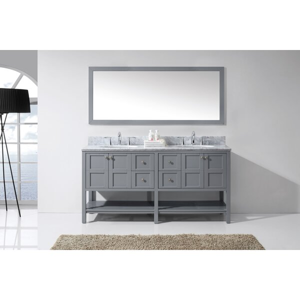 Wooden sinks wayfair for Bobs furniture bathroom vanity