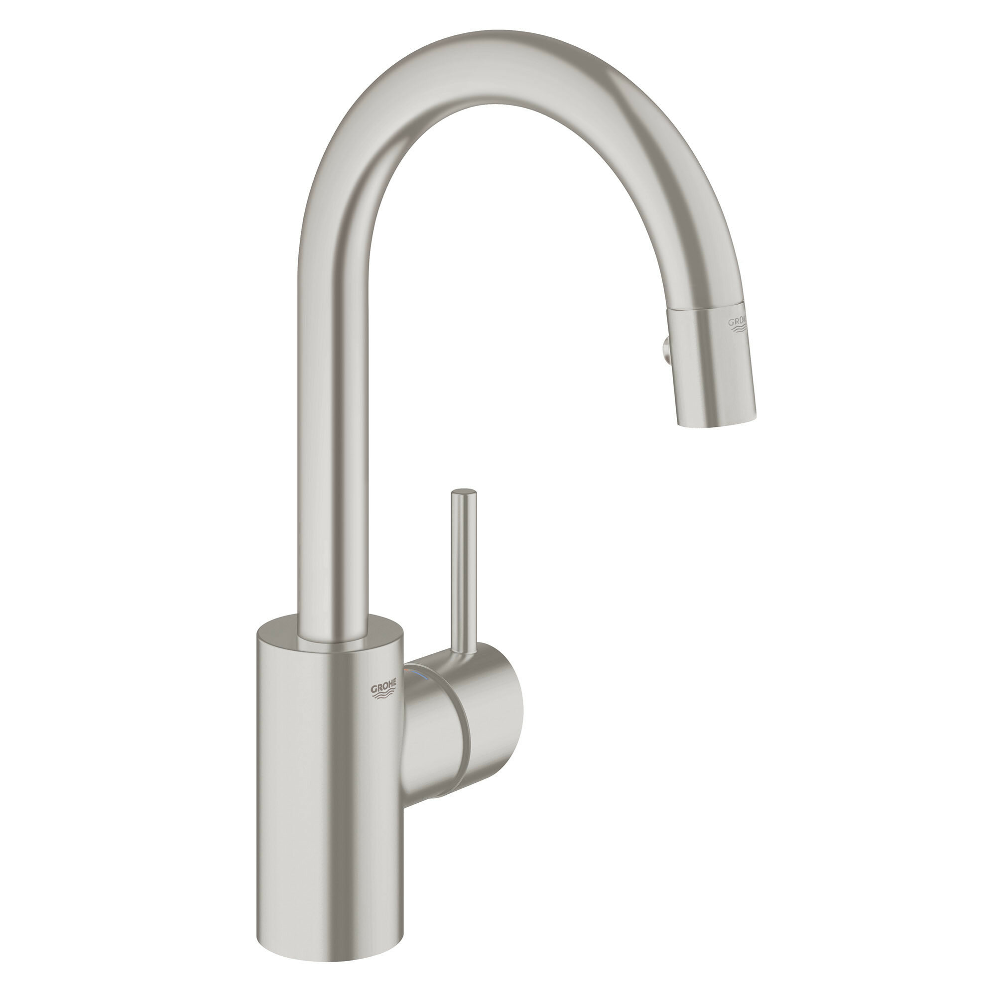 Grohe Concetto Single Handle Kitchen Faucet with Side Spray and ...