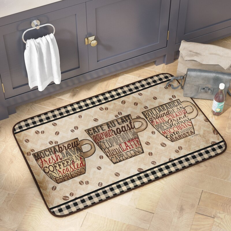 Delicieux Chilton Coffee Words Oversized Anti Fatigue Kitchen Mat
