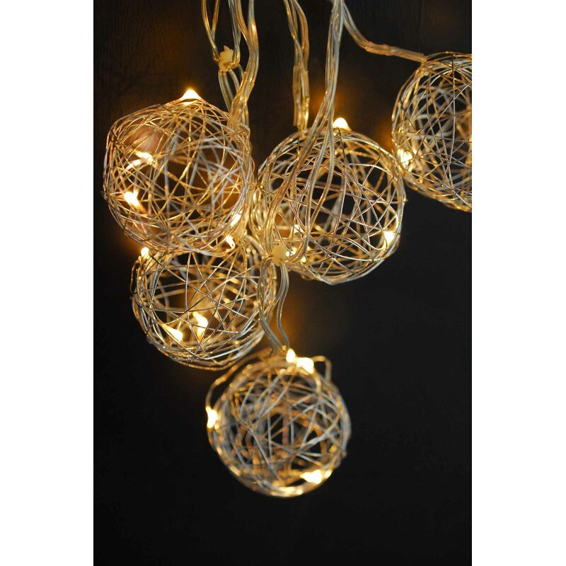 The Holiday Aisle Led Wire Ball Battery Operated String Lights Reviews Wayfair