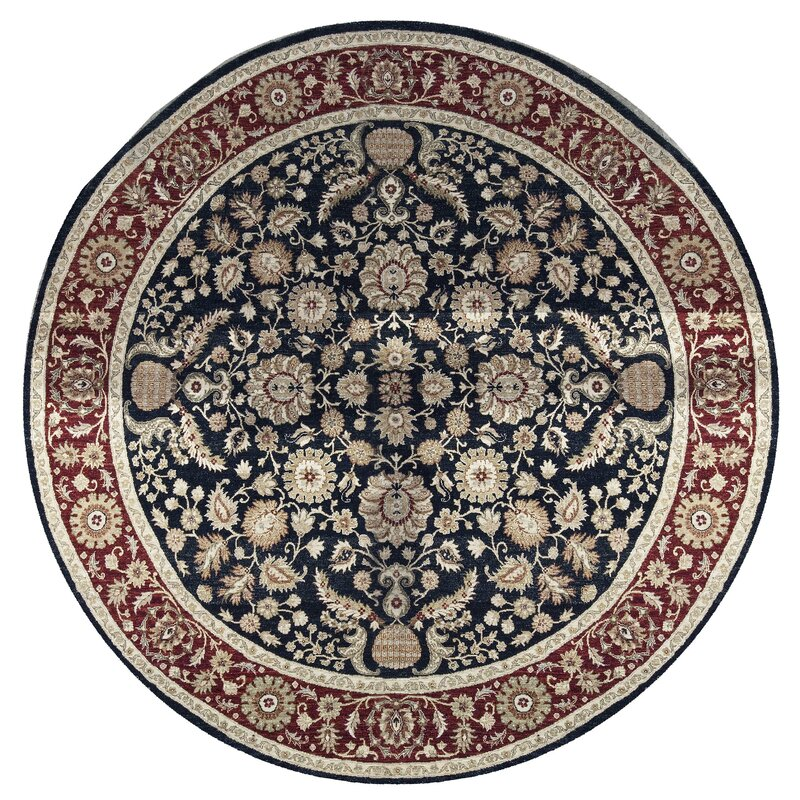 Bokara Rug Co., Inc. One-of-a-Kind Sultanabad Handwoven Round 910 Wool Red/Black Area Rug