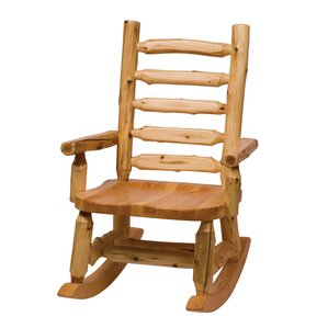 Traditional Cedar Log Rocking Chair by Fires..
