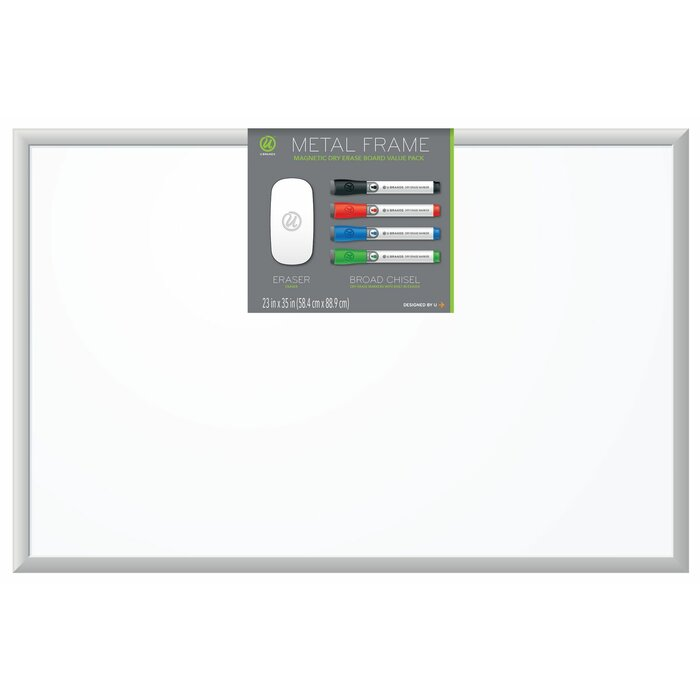 U Brands Wall Mounted Bulletin Board 23 X 35 Wayfairca