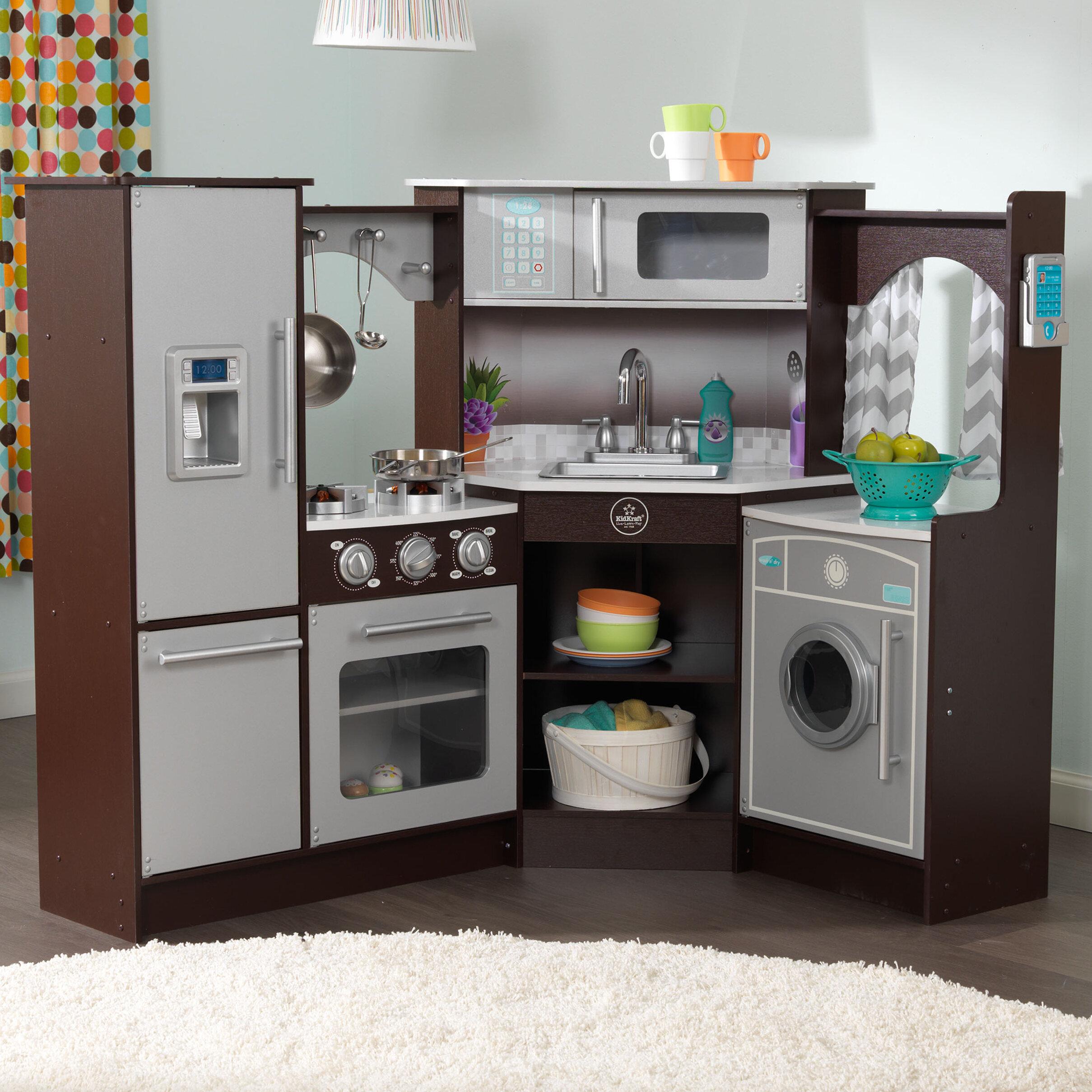 Kinder Küche Kidkraft | Kidkraft Ultimate Eck Spielkuche Mit Licht Und Soundeffekten