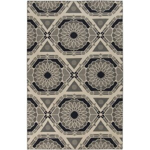 Alicia Parchment/Charcoal Gray Rug