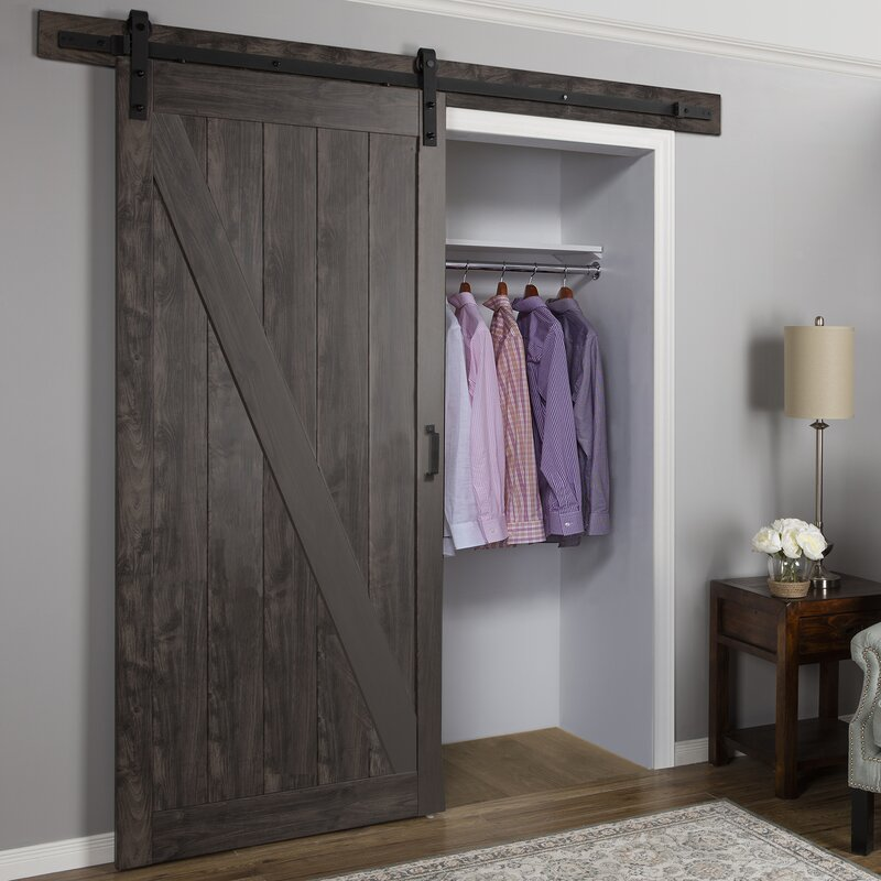 erias home designs cheval ironage solid mdf panelled slab interior barn door reviews. Black Bedroom Furniture Sets. Home Design Ideas