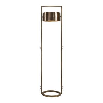 Brayden Studio Netzer Suspended Drum Shade 61 Column Floor Lamp