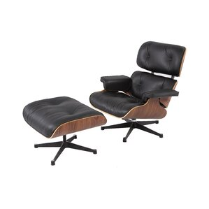 Emilio Mid Century Swivel Lounge Chair And Ottoman
