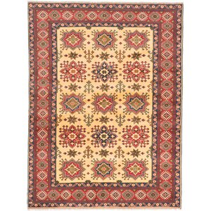 One-of-a-Kind Bunkerville Hand-Knotted Beige/Red Area Rug