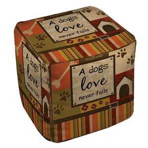 Love Never Fails Ottoman by Manual Woodworke..