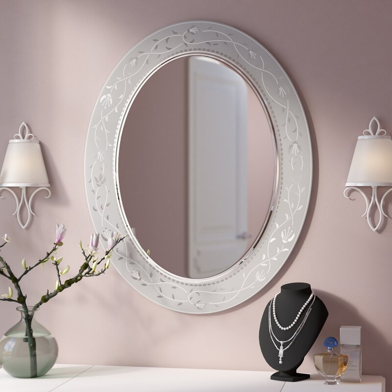 Lark Manor Morandiere Etched Border Bathroomvanity Mirror Reviews