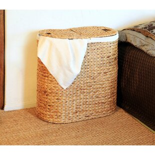 Oval Double Wicker Laundry Hamper