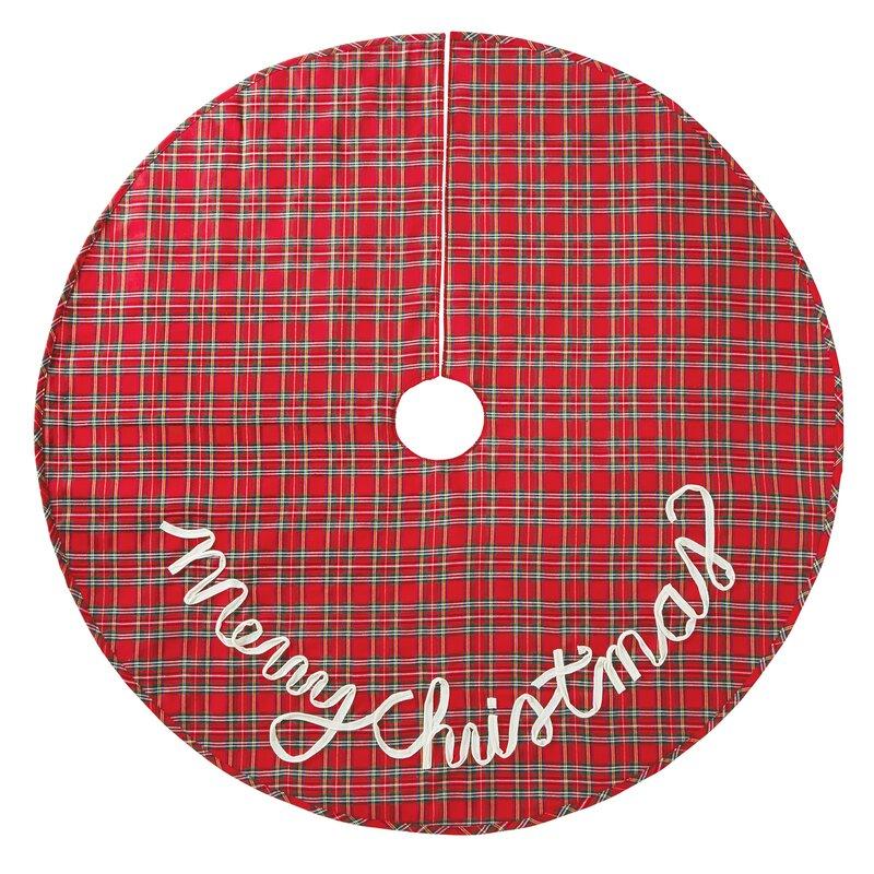 Christmas Tree Skirt Images Part - 26: Tartan Plaid Christmas Tree Skirt