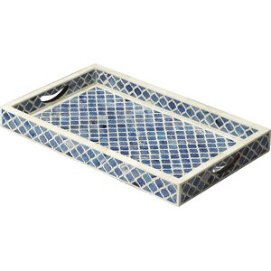 Bone Inlay Serving Tray