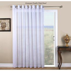 Tergaline Patio Solid Sheer Grommet Single Curtain Panel