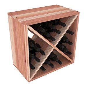 Karnes Redwood X-Cube 24 Bottle Tabletop Wine Rack by Red Barrel Studio